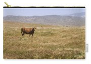 Lone Cow In Grassy Field Carry-all Pouch