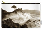 Lone Cypress Tree On  Midway Point Pebble Beach California Circa 1916 Carry-all Pouch