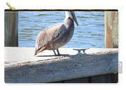 Lone Pelican On Pier Carry-all Pouch