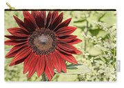 Lone Red Sunflower Carry-all Pouch by Kerri Mortenson