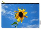 Lone Sunflower In A Summer Blue Sky Carry-all Pouch
