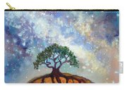 Lone Tree And Milky Way Carry-all Pouch
