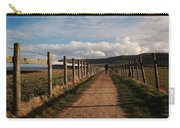 Lone Walker On The North Yorkshire Coastal Path Carry-all Pouch
