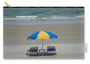 Lonely Beach Chairs Carry-all Pouch