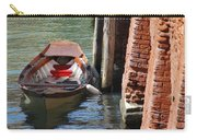 Lonely Boat In Venice Carry-all Pouch
