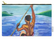 Lonely Boatman In Rwanda Carry-all Pouch