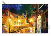 Lonely Night - Palette Knife Oil Painting On Canvas By Leonid Afremov Carry-all Pouch