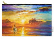 Lonely Sea 2 - Palette Knife Oil Painting On Canvas By Leonid Afremov Carry-all Pouch