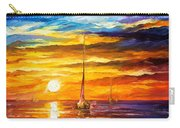 Lonely Sea 3 - Palette Knife Oil Painting On Canvas By Leonid Afremov Carry-all Pouch