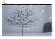 Lonely Tree In Snow Bavaria Carry-all Pouch