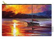Lonely Yacht - Palette Knife Oil Painting On Canvas By Leonid Afremov Carry-all Pouch