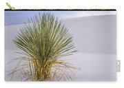 Lonely Yucca Plant In White Sands Carry-all Pouch