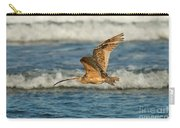 Long-billed Curlew Flying Over The Surf Carry-all Pouch