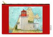 Long Eddy Pt Lighthouse Nb Canada Chart Art Peek Carry-all Pouch