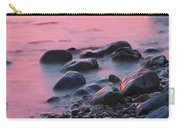 Long Exsposure Of Rocks And Waves At Sunset Maine Carry-all Pouch