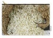 Long Grain Rice In Burlap Sack Carry-all Pouch