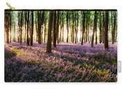 Long Shadows In Bluebell Woods Carry-all Pouch