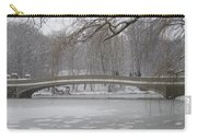 Long Snow Covered Bridge Carry-all Pouch