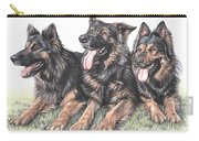Longhaired German Shepherds Carry-all Pouch