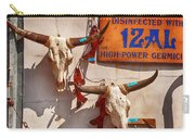 Longhorn Skulls On The Wall Carry-all Pouch