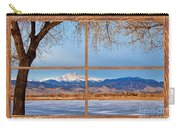 Longs Peak Across The Lake Barn Wood Picture Window Frame View Carry-all Pouch