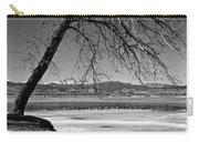 Longs Peak Geese Bw Carry-all Pouch