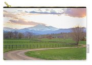Longs Peak Springtime Sunset View  Carry-all Pouch