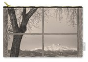 Longs Peak Winter Lake Barn Wood Picture Window Sepia View Carry-all Pouch