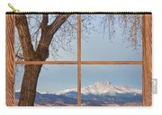 Longs Peak Winter Lake Barn Wood Picture Window View Carry-all Pouch