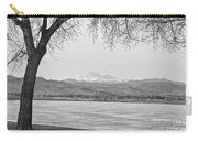 Longs Peak Winter View In Black And White Carry-all Pouch