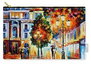Lonley Couples - Palette Knife Oil Painting On Canvas By Leonid Afremov Carry-all Pouch