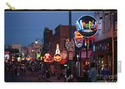 Looking Down Beale Street Memphis Carry-all Pouch