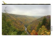 Looking Downstream At Blackwater River Gorge In Fall Carry-all Pouch by Dan Friend