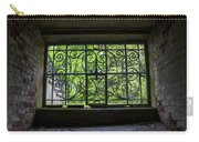Looking Through Old Basement Window On To Vibrant Green Foliage Fine Art Photography Print  Carry-all Pouch
