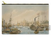 Looking Towards London Bridge Carry-all Pouch by William Parrot