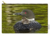 Loon Chick Rides On A Parents Back Carry-all Pouch