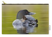 Loon Chick Resting On Parents Back Carry-all Pouch