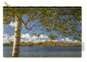 Loon Lake In Autumn With White Birch Tree Carry-all Pouch