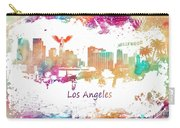 Los Angeles California Skyline Colored Carry-all Pouch