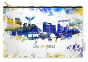 Los Angeles California Skyline Yellow Blue Carry-all Pouch