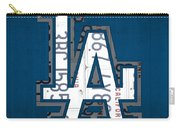 Los Angeles Dodgers Baseball Vintage Logo License Plate Art Carry-all Pouch
