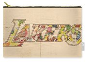 Los Angeles Lakers Logo Art Carry-all Pouch
