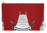 Los Angeles Skyline Graumans Chinese Theater - Dark Red Carry-all Pouch by DB Artist