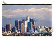 Los Angeles Skyline With Mountains In Background Carry-all Pouch