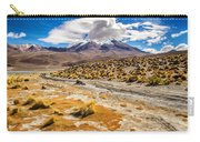 Lost In The Bolivian Desert Framed Carry-all Pouch