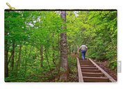 Lots Of Steps On La Chute Trail In Forillon Np-qc Carry-all Pouch