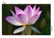 Lotus And Buds Carry-all Pouch by Susan Candelario