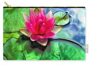 Lotus Blossom And Cloud Reflection Carry-all Pouch