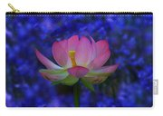 Lotus Flower In Blue Carry-all Pouch