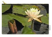 Lotus Flower In White Carry-all Pouch
